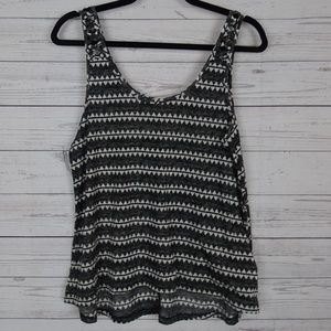 H&M grey triangle shoulder detail tank top